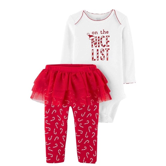Just one you Carter's on the nice list outfit tutu